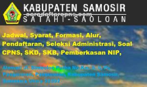Jadwal Pendaftaran CPNS Kabupaten Samosir 2021 Lulusan SMA SMK D3 S1 S2