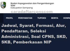 Pengumuman Hasil SKB CPNS Kabupaten Sampang Formasi 2019