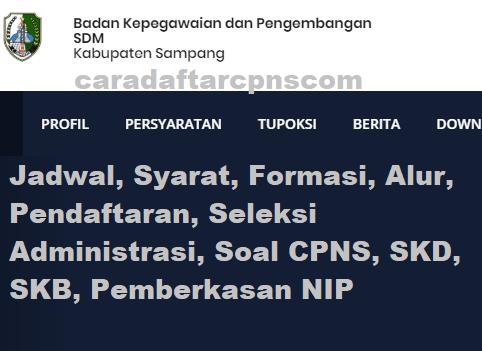 Pengumuman Hasil SKD CPNS KABUPATEN SAMPANG 2021