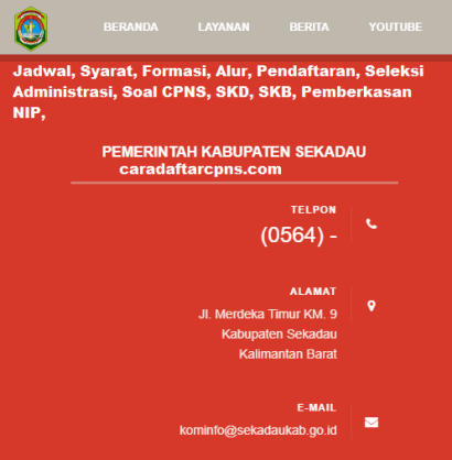 Pengumuman CPNS Kabupaten Sekadau 2021 Lulusan SMA SMK D3 S1 S2
