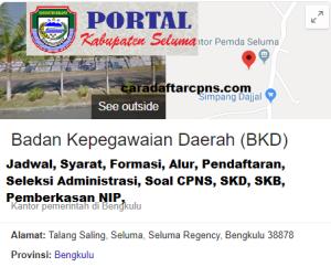 Jadwal SKB CPNS Kabupaten Seluma 2019 2020