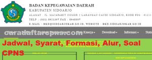 Jadwal Pendaftaran CPNS Kabupaten Sidoarjo 2021 Lulusan SMA SMK D3 S1 S2