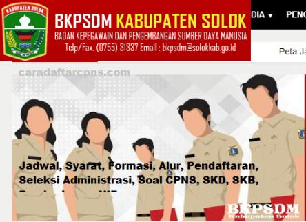 Pengumuman CPNS Kabupaten Solok 2021 Lulusan SMA SMK D3 S1 S2
