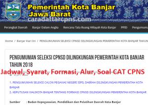 Jadwal dan Lokasi Tes SKD CPNS Kota Banjar 2019 2020