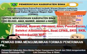 Pengumuman Hasil SKB CPNS Kota Bima Formasi 2019