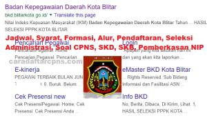 Hasil Seleksi Administrasi CPNS Kota Blitar 2019