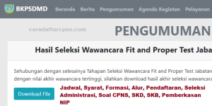 Jadwal Pendaftaran CPNS Kota Jambi 2021 Lulusan SMA SMK D3 S1 S2