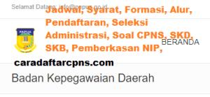 Jadwal Pendaftaran CPNS Kota Jayapura 2021 Lulusan SMA SMK D3 S1 S2