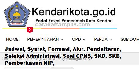 Pengumuman Hasil SKD CPNS PEMKOT KENDARI 2021
