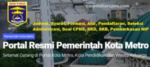 Pengumuman Hasil SKB CPNS Pemkot Metro Formasi 2019