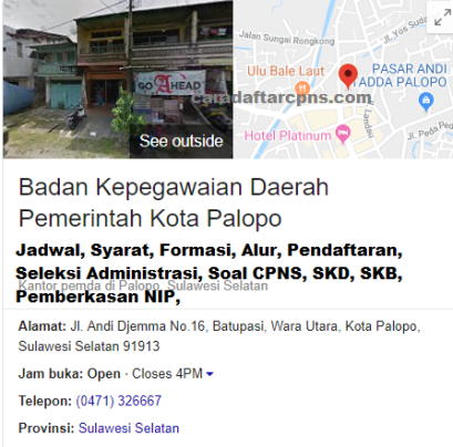 Pengumuman Hasil SKD CPNS PEMKOT PALOPO 2021