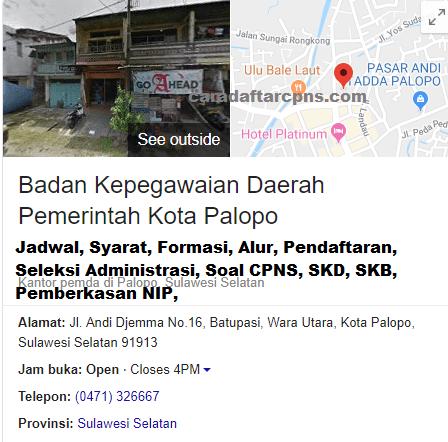 Hasil Seleksi Administrasi CPNS Pemkot Palopo 2021