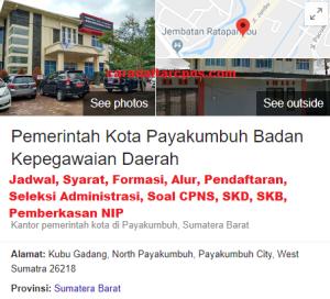 Jadwal Pendaftaran CPNS Kota Payakumbuh 2021 Lulusan SMA SMK D3 S1 S2