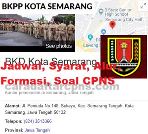 Jadwal Pendaftaran CPNS Pemkot Semarang 2021 Lulusan SMA SMK D3 S1 S2