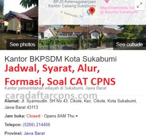 Pengumuman Hasil SKB CPNS Kabupaten Sukabumi Formasi 2019