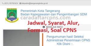 Pengumuman Hasil SKB CPNS Pemkot Tangerang Formasi 2019
