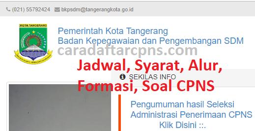 Hasil Seleksi Administrasi CPNS Pemkot Tangerang 2021