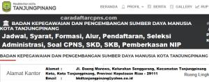Pengumuman Hasil SKB CPNS Pemkot Tanjungpinang Formasi 2019
