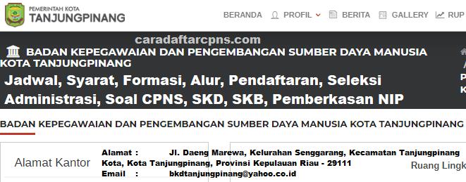Hasil Seleksi Administrasi CPNS Pemkot Tanjungpinang 2021