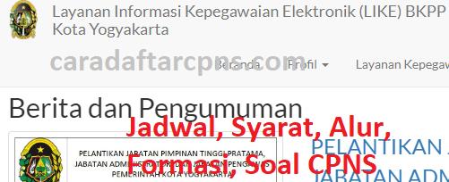 Pengumuman Hasil SKD CPNS PEMKOT YOGYAKARTA 2021