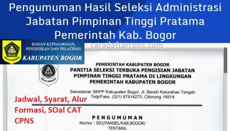 Pengumuman Hasil SKD CPNS KABUPATEN BOGOR 2021