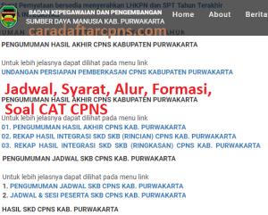 Jadwal Pendaftaran CPNS Kabupaten Purwakarta 2021 Lulusan SMA SMK D3 S1 S2