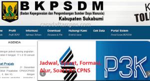 Jadwal Pendaftaran CPNS Kabupaten Sukabumi 2021 Lulusan SMA SMK D3 S1 S2