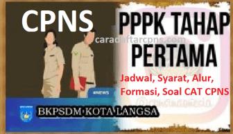 Pengumuman Hasil SKD CPNS PEMKOT LANGSA 2021