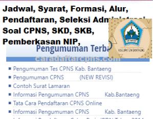Pengumuman Hasil SKB CPNS Kabupaten Bantaeng Formasi 2019