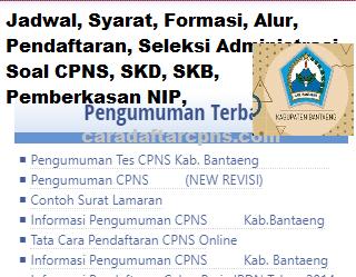 Pengumuman CPNS Kabupaten Bantaeng 2021 Lulusan SMA SMK D3 S1 S2