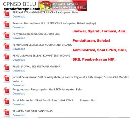 Pengumuman CPNS Kabupaten Belu 2021 Lulusan SMA SMK D3 S1 S2