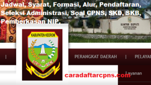 Pengumuman Hasil Akhir CPNS Kabupaten Keerom Formasi 2019
