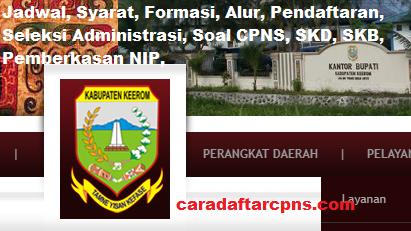 Pengumuman CPNS Kabupaten Keerom 2021 Lulusan SMA SMK D3 S1 S2