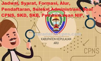 Pengumuman CPNS Kabupaten Aru 2021 Lulusan SMA SMK D3 S1 S2