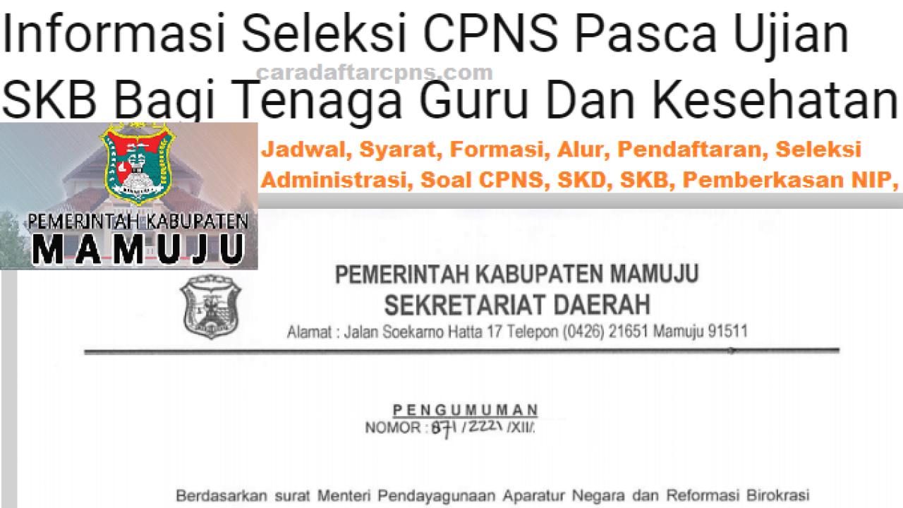 Cpns 2019 Kabupaten Mamuju Informasi Jadwal Syarat