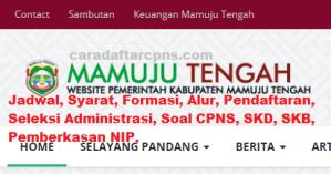 CPNS 2019 Kabupaten Mamuju Tengah