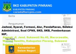 Pengumuman CPNS Kabupaten Pinrang 2021 Lulusan SMA SMK D3 S1 S2