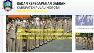 Pengumuman Hasil Akhir CPNS Kabupaten Morotai Formasi 2019