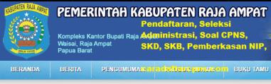 Pengumuman CPNS Kabupaten Raja Ampat 2021 Lulusan SMA SMK D3 S1 S2