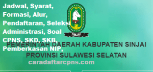 Jadwal SKB CPNS Kabupaten Sinjai 2019 2020