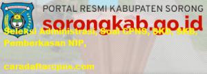 Pendaftaran CPNS Kabupaten Sorong 2019