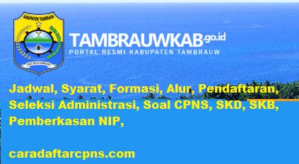 Pengumuman CPNS Kabupaten Tambrauw 2021 Lulusan SMA SMK D3 S1 S2