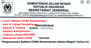 Jadwal dan syarat pendaftaran CPNS Kemendagri 2021