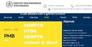 Pengumuman SNMPTN UTBK SBMPTN ISI Yogyakarta 2021