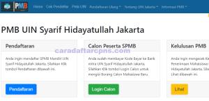 Pengumuman Hasil Seleksi Jalur Mandiri UIN JAKARTA 2020