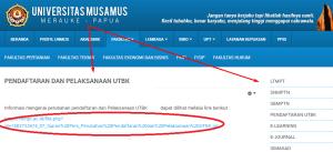 Pengumuman Hasil Seleksi Jalur Mandiri UNMUS 2020