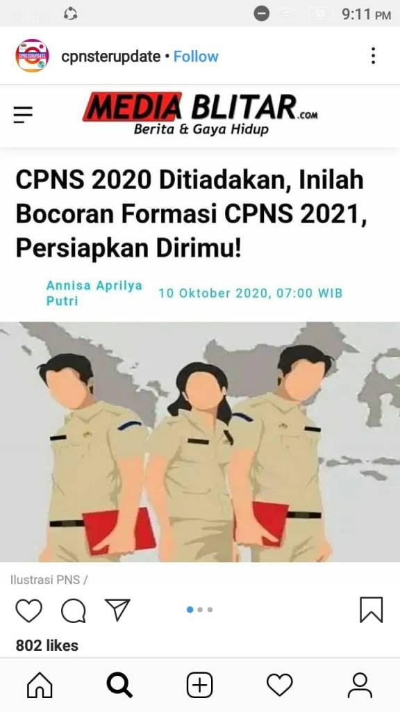 Bocoran Formasi Pendaftaran CPNS 2021 Lulusan SMA SMK