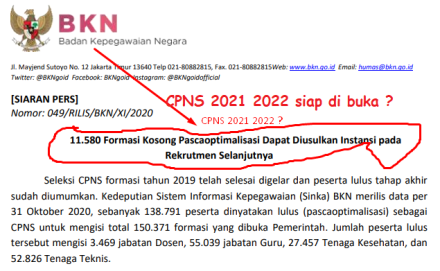 28+ Formasi cpns 2021 untuk lulusan s1 information