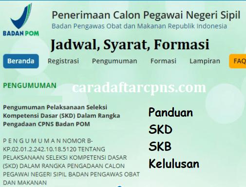 Jadwal dan syarat pendaftaran CPNS BPOM 2021