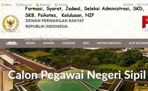 Jadwal dan syarat pendaftaran CPNS Setjend DPR 2021